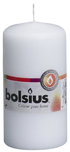 Bolsius Pillar Candle Small , 'White 60 mm Width'