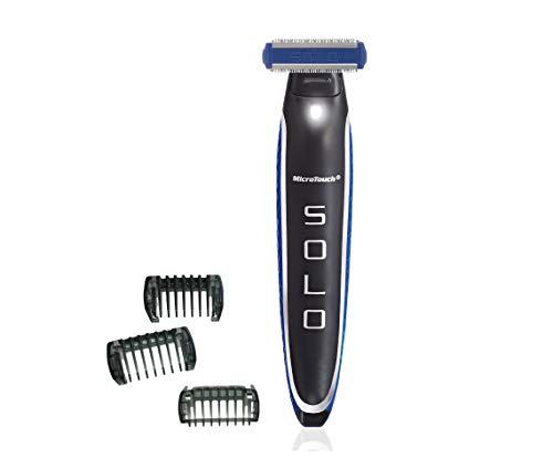 MediaShop MicroTouch Solo – Elektrischer Rasierer mit neuer, verbesserter Klingenhalterung & Aufstecktechnik der Klingenaufsätze – Barttrimmer und Körper Haartrimmer