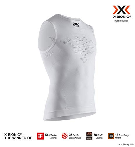 X-Bionic NG-YT02S19M T-Shirt, Hombre, Arctic White/Dolomite Grey, S