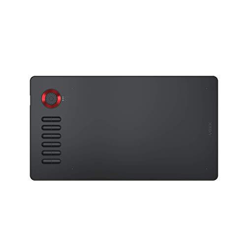 Tableta Gráfica Digital para Dibujar VEIKK A15 Pro Tableta Digitalizadora 10 x 6 Pulgadas 12 Teclas de Acceso Rápido 1 Dial Rápido lápiz óptico sin Batería Rojo
