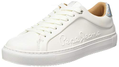 Pepe Jeans Adams Logo, Zapatillas Mujer, Color Blanco 800, 40 EU