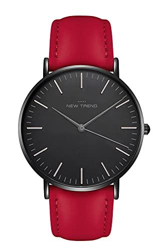New Trend - Love for Accessories Damen Uhr analog Quarzwerk mit Kunst-Leder Armband Q9-2W6S-1IGW