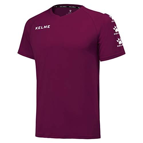 Kelme Lince Fußball-T-Shirt, Herren, Granat/Weiß, L