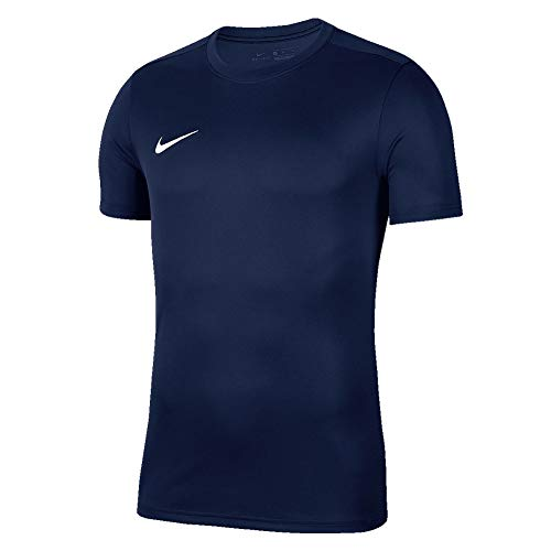 Nike Park VII Jersey SS Maillot Mixte Enfant, Midnight Navy/(White), FR (Taille Fabricant : XS)