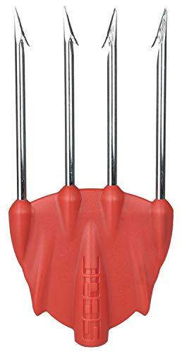 SEAC Killer Accesorio para Pesca submarina 4 Puntas Pesadas, Adultos Unisex, Rojo, One Size