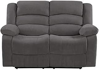 Blackjack Furniture The Winthrop Collection Modern Reclining Living Room/Den Loveseat, Gray