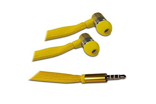 Auriculares in-ear amarillos con cable