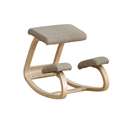 Silla ergonómica rodillas,Taburete de madera con posturas mecedoras para oficina en casa y silla de escritorio | Taburete ortopédico para escritorio de computadora y meditación,Gray