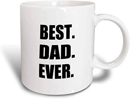 N\A 2_3 Best Dad Ever Gifts for Great Fathers Day Taza mágica transformadora con Texto Negro, 11 onzas