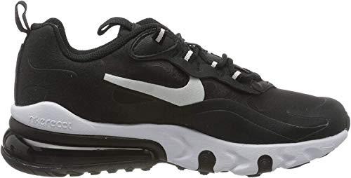 Nike Air MAX 270 React (GS), Zapatillas para Correr para Niños, Black White Black, 36 EU