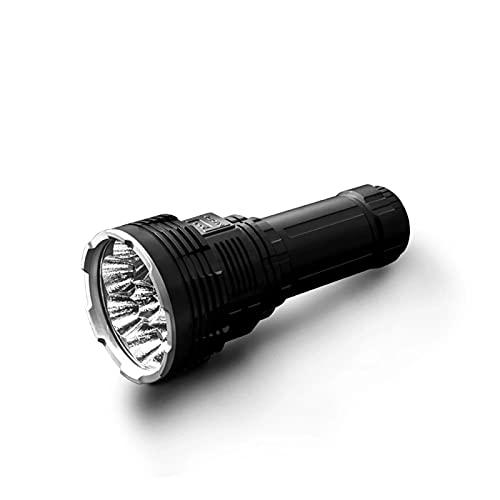 DX80 Fuerte Linterna Linterna LED Linterna Recargable Linterna Linterna Recargable Al Aire Libre, 32000 Lúmenes, para Búsqueda Al Aire Libre, Camping