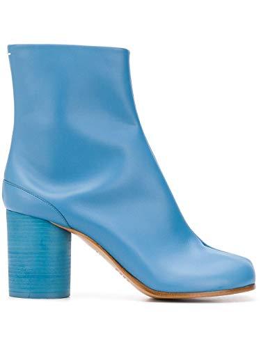 Luxury Fashion | Maison Margiela Dames S58WU0260PR516T6287 Blauw Leer Enkellaarzen | Lente-zomer 20
