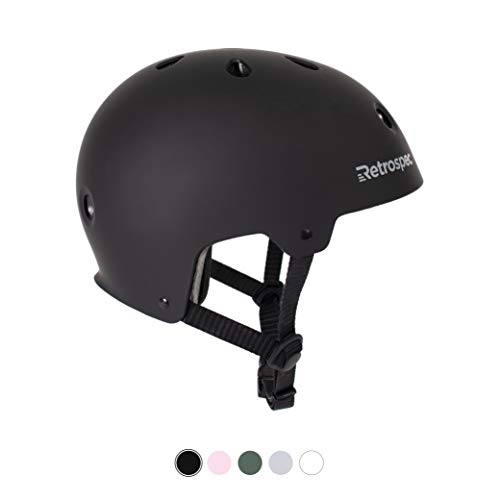 Retrospec CM-2 Bicycle / Skateboard Helmet for Adult CPSC Certified Commuter, Bike, Skate, Matte Black, Large: 59-63cm / 23.25 - 24.75 inches