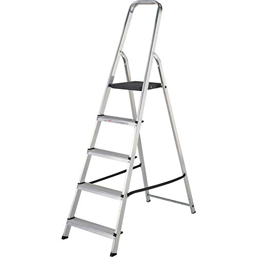 Aluminium Step Ladder EN131 Folding Platform Steps Grab Rail Youngman Atlas...