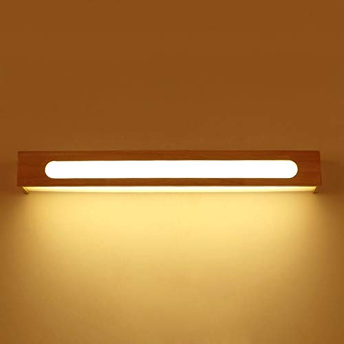 LED badkamerspiegel voor verlichting, badkamer massief hout wandlamp, dressoir spiegel kast verlichting, 60 8 7 cm, wit licht warm licht LED (kleur: LED wit licht)