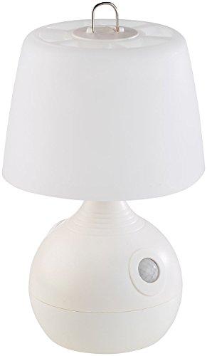 Lunartec Tischlampe mit Batterie: LED-Tischlampe, PIR- & Licht-Sensor, warmweiß & tageslichtweiß, 30 lm (Tischlampe batteriebetrieben)