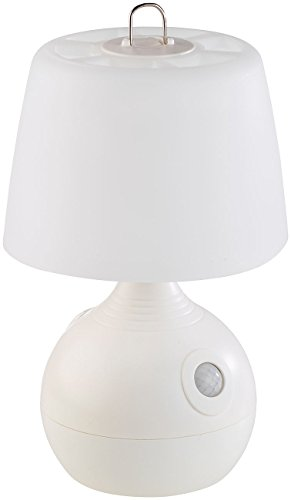 Lunartec Tischleuchte: LED-Tischlampe, PIR- & Licht-Sensor, warmweiß & tageslichtweiß, 30 lm (Tischlampe mit Bewegungsmelder)