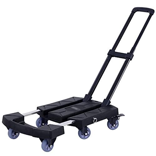 Z-SEAT Gebrauchswagen Handwagen Arbeitssparender tragbarer Außenwagen, multifunktionale Faltbare Plattform-LKWs für den Haushalt, drehbarer Hochleistungs-Lebensmittelwagen,