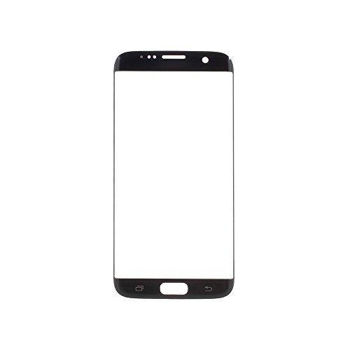JayTong Pantalla de Vidrio Frontal de repuestos, Pantalla De Repuesto Screen Replacement para Galaxy S7 Edge G935 G935F G935A G935V G935P G935T G935R4 G935W8 (No LCD and No Digitizer) Negro