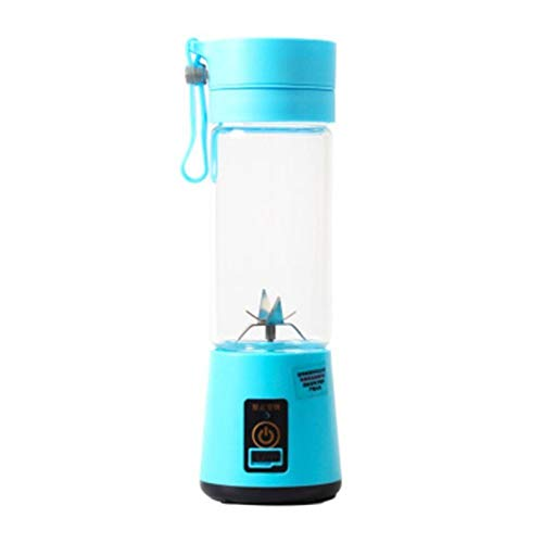 ZHANGNING Juicer Tamaño portátil USB Fruta eléctrica Juicer Handheld Maker Maker Blender Right Recargable Mini Portátil Jugo Taza Agua Juicer centrífugo (Color : Blue)