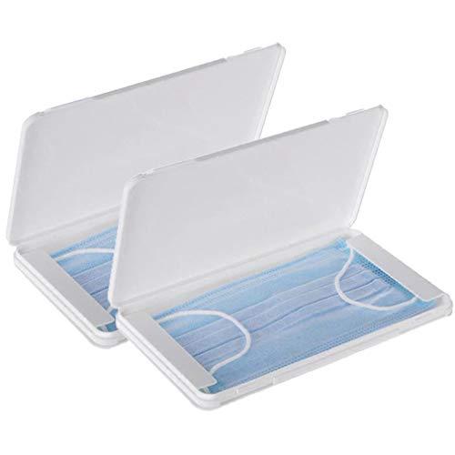 FVE Contenitore per mascherine Antipolvere e Cosmetici,per la prevenzione dell'inquinamento Bianco Non compresi Maschera (2 PCS)