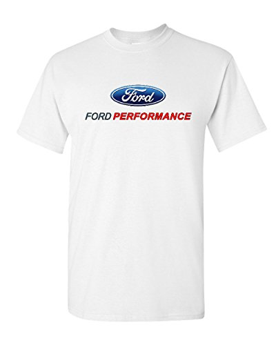 Ford Performance T-Shirt Ford Mustang GT ST Racing Tee Shirt White L