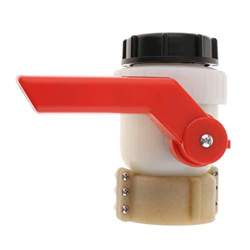 Sharplace Robinet à Bille Vissable DN50 50mm 2L IBC pour Réservoir, IBC - Diamètre d'entrée 62mm