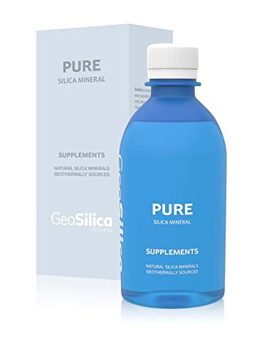 GeoSilica Pure - 100% Natural Geothermal Silica Mineral Supplement from Iceland | Pure Icelandic Water | No additives | Preservatives Free | pH 8,5 (Pure)