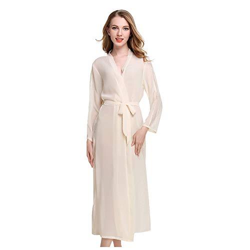 Casa Mujer Vestido Kimono Satén Largo, Kimono Bata de Satén Kimono Del...