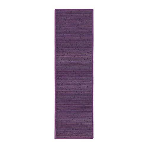 Lola Home Alfombra para salón de bambú (60 x 200 cm, Violeta)