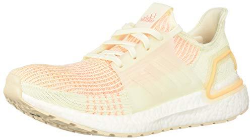 adidas Women's UltraBOOST 19 Running Shoe, Off White/Off White/Glow Orange, 11 M US