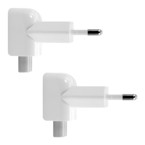 kwmobile 2X Duckhead Adapter kompatibel mit Apple iPad 10W und 12W und MacBook MagSafe 1 und 2 Ladegeräte Power-Adapter - EU 2 Pin Power Plug Eurostecker