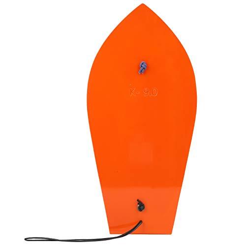 01 Tabla de Pesca para curricán, portátil, Color Naranja, Duradera, Tabla de Buceo, fácil de Transportar y almacenar para Barcos de Pesca para Pesca con curricán en Profundidades Superiores y(9#)