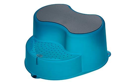 Rotho Babydesign TOP Tabouret Enfant, Surface Antidérapante, TOP, Bleu Translucide, 200050209