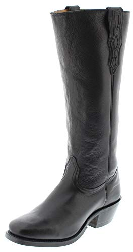 Boulet Herren Cowboy Stiefel 4002 E Black Westernreitstiefel Buckaroo Stiefel Longshafter Schwarz 40.5 EU