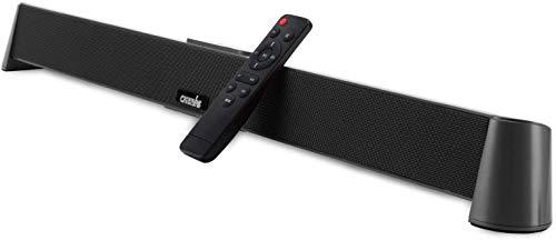 Soundbar für TV Geräte CARRVAS Audio Soundbar TV Lautsprecher mit Kabelgebundenem und Kabellosem Bluetooth, 31 Zoll Soundbar für Heimkino, Optische/Aux/RCA Verbindung und Fernbedienung
