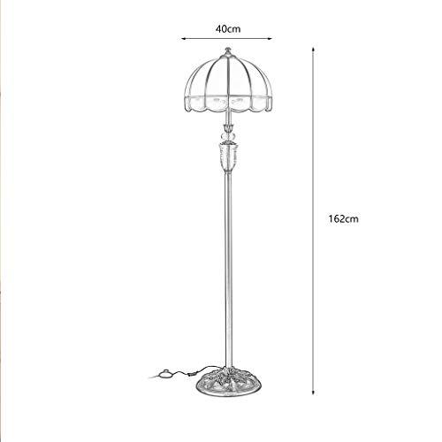 EIU staande lamp volledig koper kristal vloerlamp Europese retro slaapkamer studie vloerlamp sfeervolle woonkamer creatieve lamp W12/25