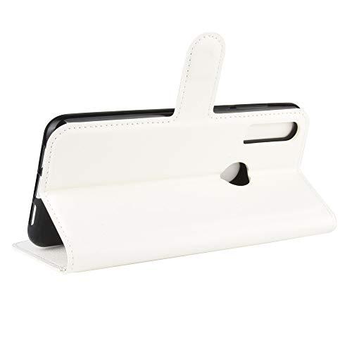 DAMAIJIA für Alcatel 1S 2020 Hüllen 5028Y Klapphülle PU Leder Silikon Wallet Schutzhülle Schutz Mobiltelefon Flip Back Cover für Alcatel 1V 2020 / 3V 2020 Tasche Handy Zubehör (White)