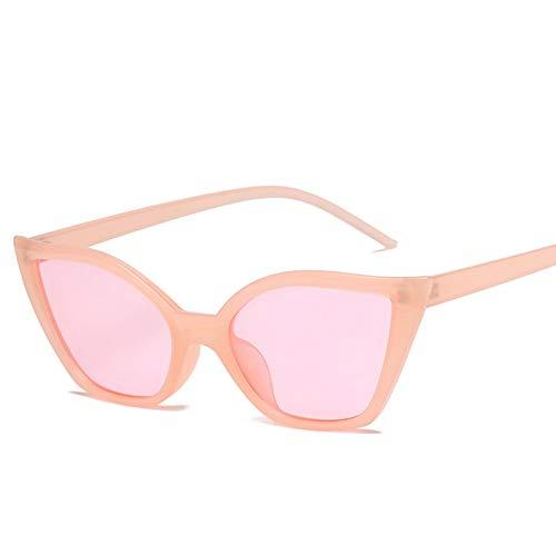 HYUHYU Kleine Cat Eye Sonnenbrille Frauen Marke Eyewear Rahmen Promi Damen Vintage Sexy Sonnenbrille
