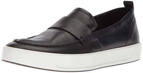 ECCO Men's Soft 8 Slip on Sneaker, Black Loafer, 45 M EU (11-11.5 US)