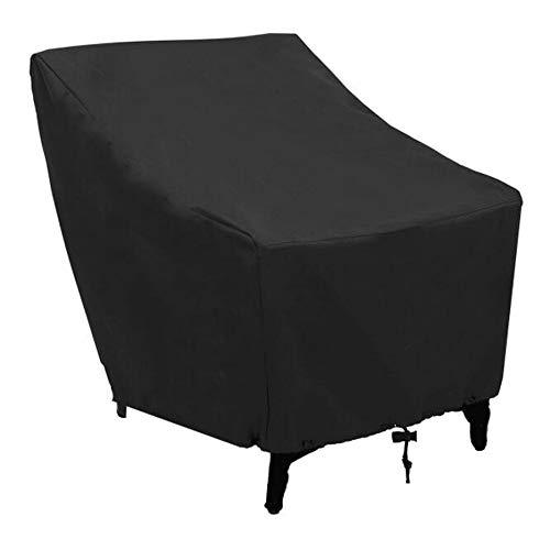 SHENAISHIREN Cubierta de Silla de apilamiento del Patio, Tapa de Muebles de jardín, Impermeable, Anti-UV, 210D Tela de Oxford Cubierta de Silla de jardín reclinable