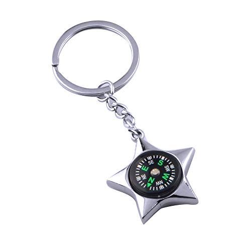 IKAAR Kompass Outdoor Kompass Schlüsselanhänger Mini Kompass Navigation Taschenkompass für Camping Wandern Geschenk Silber