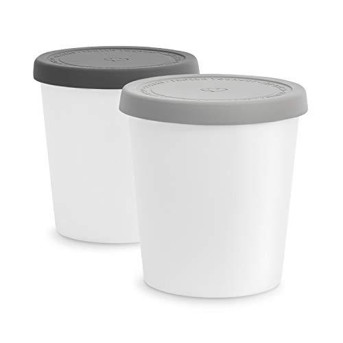 Set di Contenitori per Gelato da 2 Pezzi 1L, Contenitori Alimentari BPA-free, Contenitore Congelatore, Contenitore per Conservare