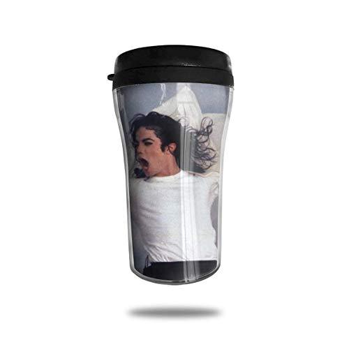 Michael Jackson Kaffeetassen Reisebecher Wärmer Becher Tasse, Kunst Kunstflasche Thermoskanne Kaffeetassen mit Deckel 250ml anpassen