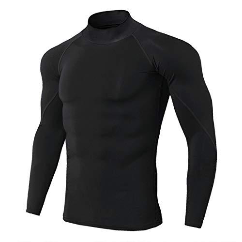 XWLY Men Shirt Men Sweatshirt Slim Fit Elastic Fiber Comfortable Breathable Men Sweatshirt Spring Autumn Long Sleeve Fashion Fitness Jogging Riding Men Sweatshirt Black. S