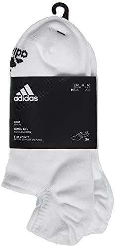 adidas Unisex No-Show Socken (3 Paar), White/White/White, M