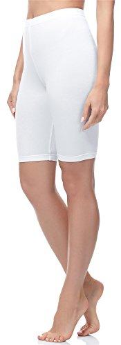Merry Style Mallas Cortas Leggins Mujer MS10-200 (Blanco, XXL)