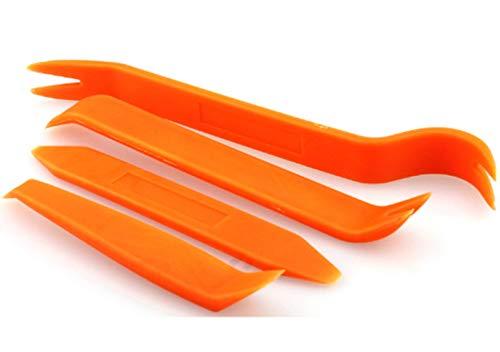 Voarge 4pcs Kit Utensile di Smontaggio per Rimozione Ricambio Riparazione Auto, Strumento di rimozione della Clip della portiera dell'auto per Pannello in plastica Automatica
