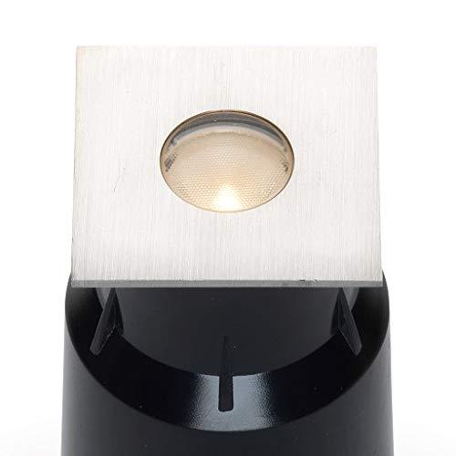 LED grondspot Braga Plug&Play | grondspots/vloerspots/buitenverlichting/tuinverlichting | 3W / RVS / vierkant / buiten / 24V / IP67 / warmwit