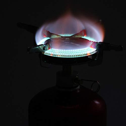 Lihuzmd Portátil Estufa De Camping Gas, Senderismo Picnic Caja De Utensilios De Cocina Ultraligero Al Aire Libre Cocinar Quemador De La Estufa, Sin Bombona De Gas,Plata,17x7cm